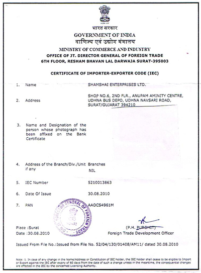 Import Export License Bangalore Import Export License
