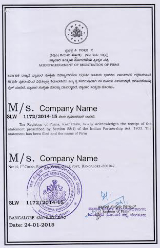 PARTNERSHIP REGISTRATION IN BANGALORE Gururaj Associates - Partnership legal documents